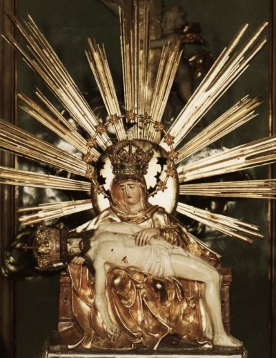 allaboutmary:  The miraculous statue of Our Lady of Sorrows of Šaštín, the patroness of Slovakia. The pilgrimage to Šaštín dates back to 1564, when the wife of a Hungarian nobleman commissioned a statue of Mary in thanks for an answered prayer. It soon became an object of special devotion. The current basilica was built in the 18th century by the order of empress Maria Theresa. It was consecrated in 1764, when the shrine celebrated its second centenary.