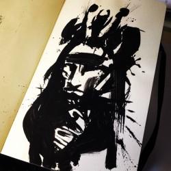 #inkbrush #samurai #sketch #mattheathillustration