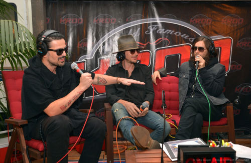Tomo Milicevic, Shannon Leto and Jared Leto of 30 Seconds to Mars attend KROQ Weenie Roast Y Fiesta at Verizon Wireless Amphitheater on May 18, 2013 in Irvine, California. (HQ)