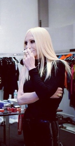 I'm going on a diet and I'm not going to quit until I'm Donatella verge-of-death skinny.