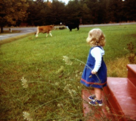 "I'm an only child who grew up thinking cows on the front lawn was normal. The first ""lonely little pea."""