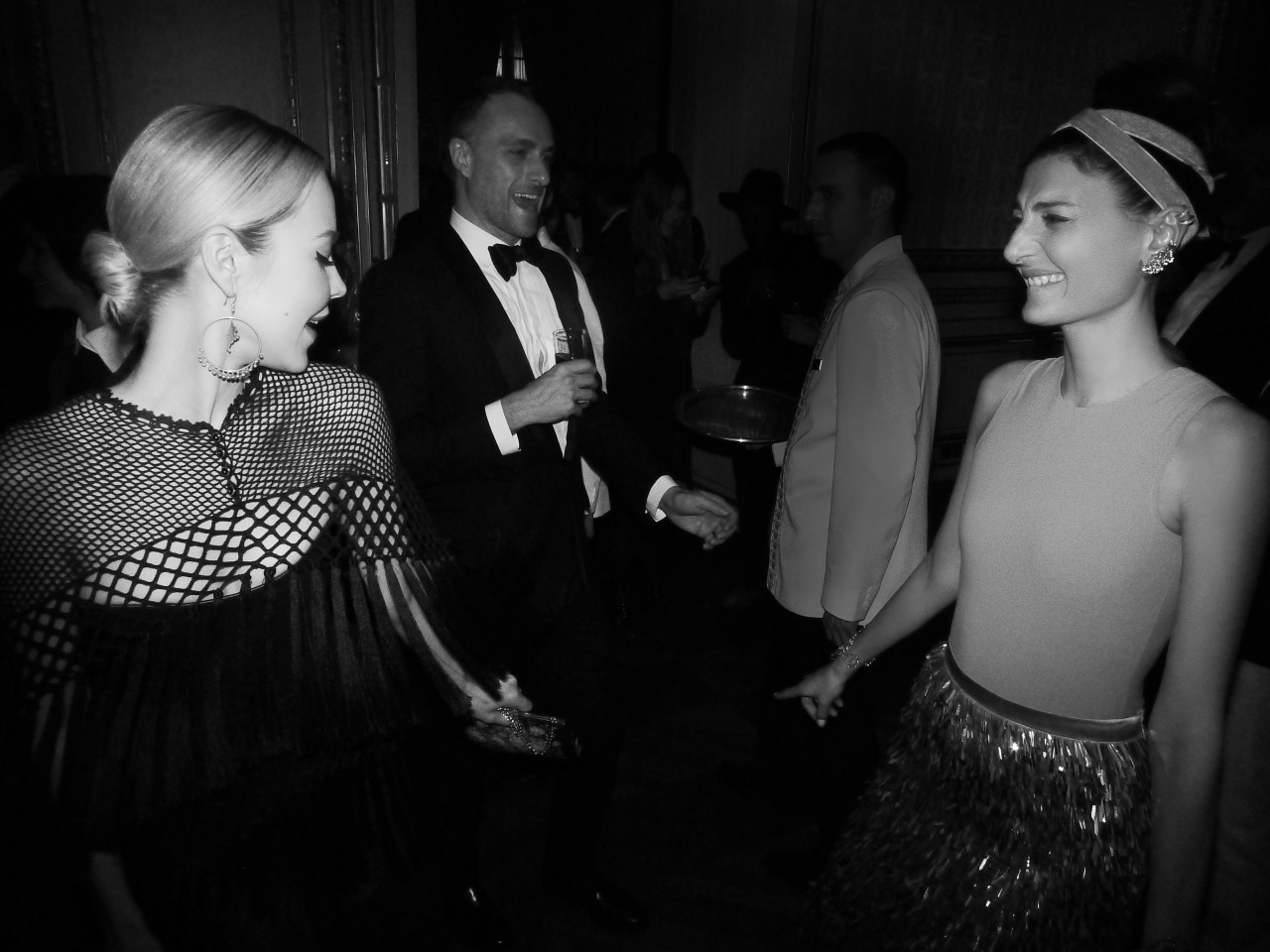 Fashion divas dancing at Carine Roitfeld's party in Paris: Mrs. Ulyana Sergeenko & Mrs. Giovanna Battaglia