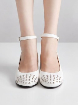 Look at these beautiful studded sandals! New Collection is up now. Shop  Here