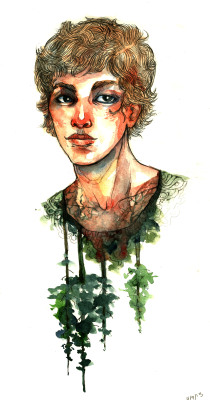 eatsleepdraw:  Watercolor and graphite. I have an art blog, click through to see! :] -Emily Q