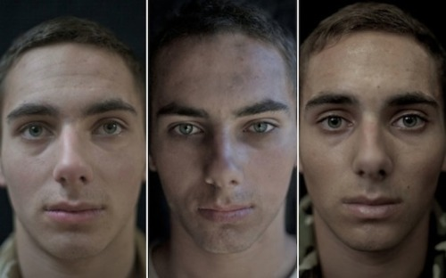 Photos of soldiers before, during and after war. Fascinating