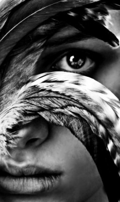 #eyes #feathers #tribal