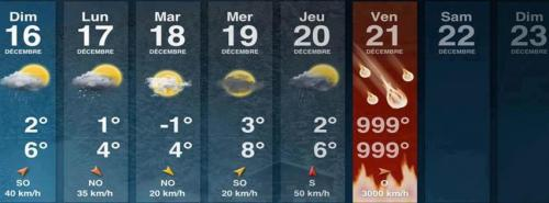 End of the World - Weather Forecast  via jujukitten:  God bless the French.