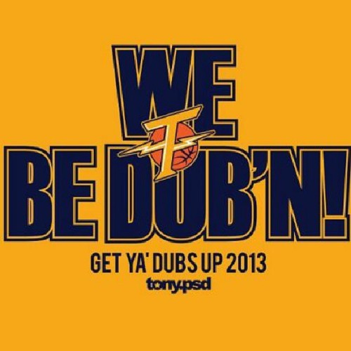 Let's Get It! Dubs! Dubs! Dubs! #game6 #dubs #dubsallday #dubnation #warriors #goldenstatewarriors #Beatsanantonio #wegotthis #westillbelieve #webelieve #bayareastandup #instagram #idoitfordabay