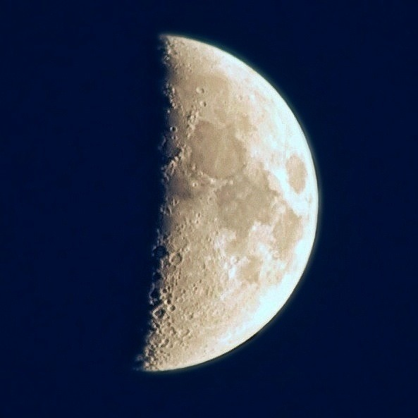 Nice moon in Sweden tonight!  Shot with a Nikkor 55-300mm f/4.5-5.6 freehand.