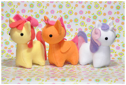 MLP - Itsy-Pony Plush - Three Very Tiny Ladies by *mihoyonagi on deviantART