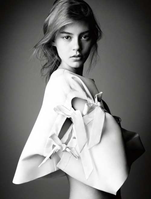Ondria Hardin by Patrick Demarchelier for Interview December/January 12.13