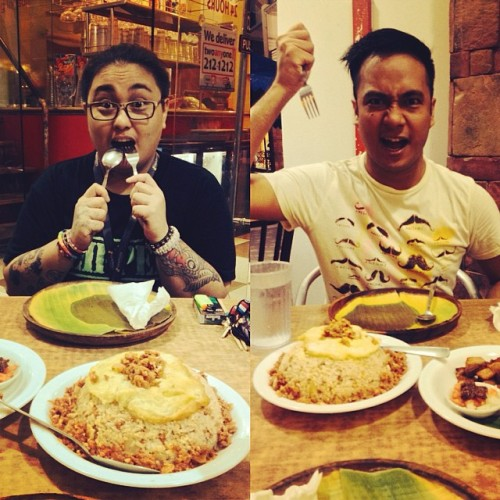@ #BCI #BacolodChickenInasal with @dayforeal midnight snack… SNACK?!…