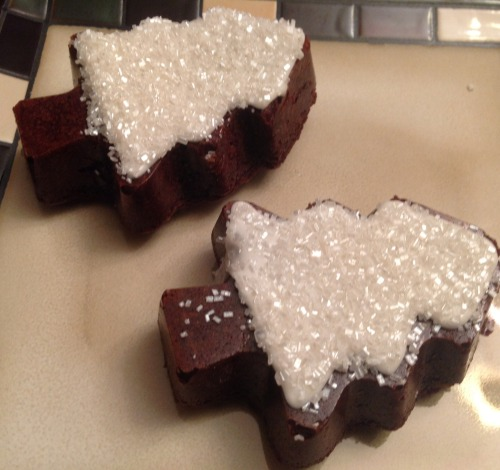 HERE IS A PHOTO OF SOME BROWNIES I MADE AND FROSTED TO LOOK LIKE SNOWY TREES. I HOPE YOU MEANT YOU WERE IN THE MOOD FOR CHOCOLATE.    THANK YOU, FINALLY SOMEONE GETS IT.