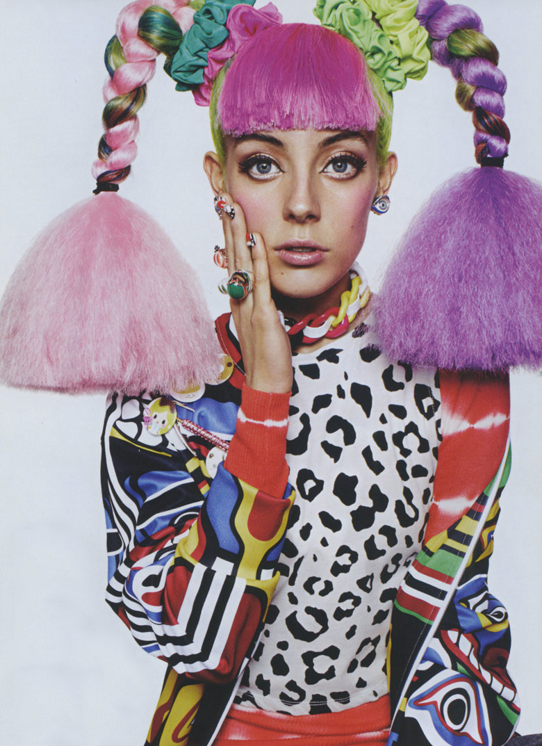 My very beautiful friend Chloe Norgaard wearing a dope Jeremy Scott jumper in Miss Vogue…