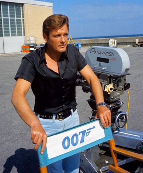 marc-ange-draco:  Roger Moore as James Bond in Live and Let Die  Rog starts work Can you believe this was 40 years ago?