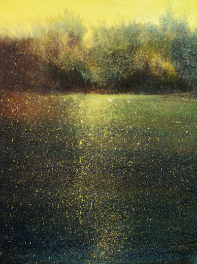 slowartday:  Maurice Sapiro, Gold on the Water, 2012