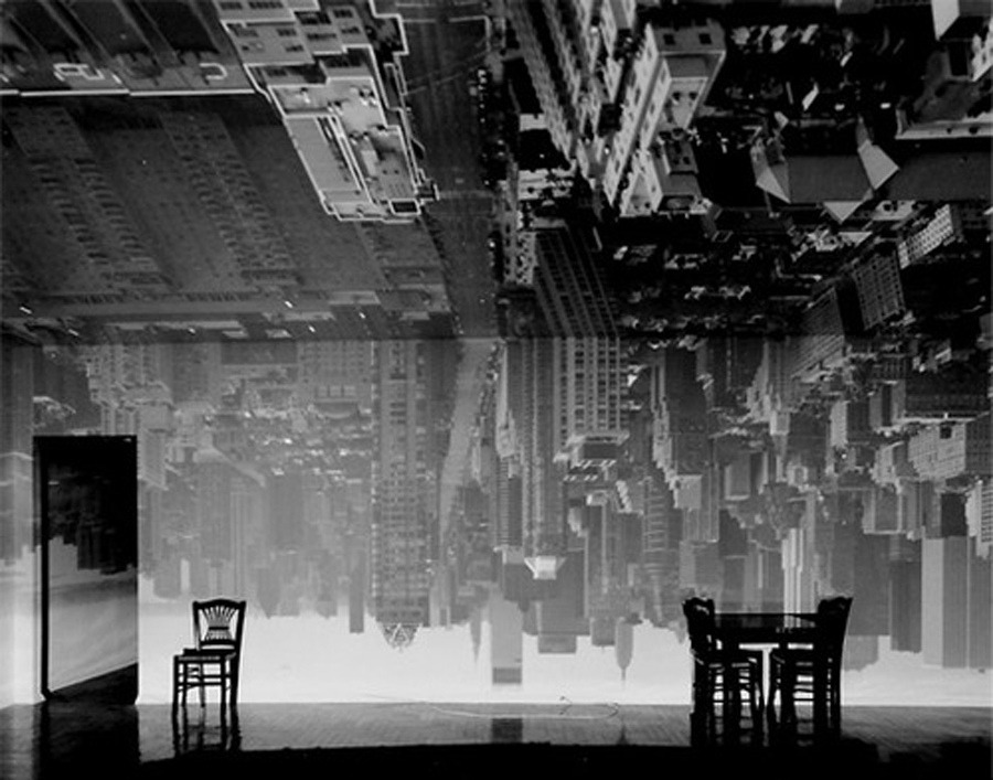 Abelardo Morell-  Camera Obscura: Manhattan View Looking South in Large Room, 1996