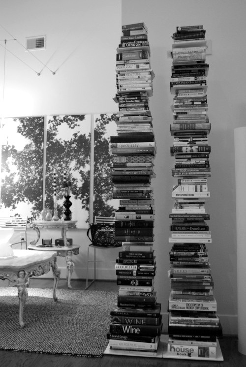 The stacks of book in my living room are growing to be nearly this tall…