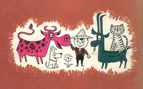 The Day The Cow Sneezed by Jim Flora (1957)