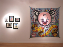CIRCUS exhibition at Gallery Project by joelevickas on Flickr.My artwork is now on display in Ann Arbor, Michigan for the group exhibition entitled, Circus. Painted banner by Seamus Liam O'Brien