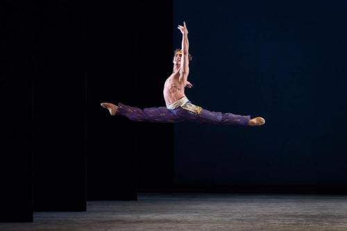 beginningatthebarre:  Ivan Vasiliev as Ali the Slave in ABT's Le Corsaire.  Gorgeous lines, just gorgeous.