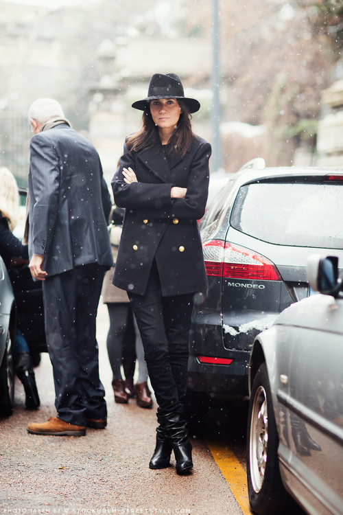 labellefabuleuse:  Emmanuelle Alt during Milan Fashion Week, Fall 2013