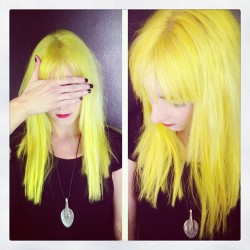 bleachlondon:  Spring babe super cool colour by Carl 🐤🐤🐤