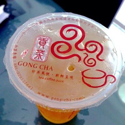 Peach Green Tea, Gong Cha, CWP (at Causeway Point)