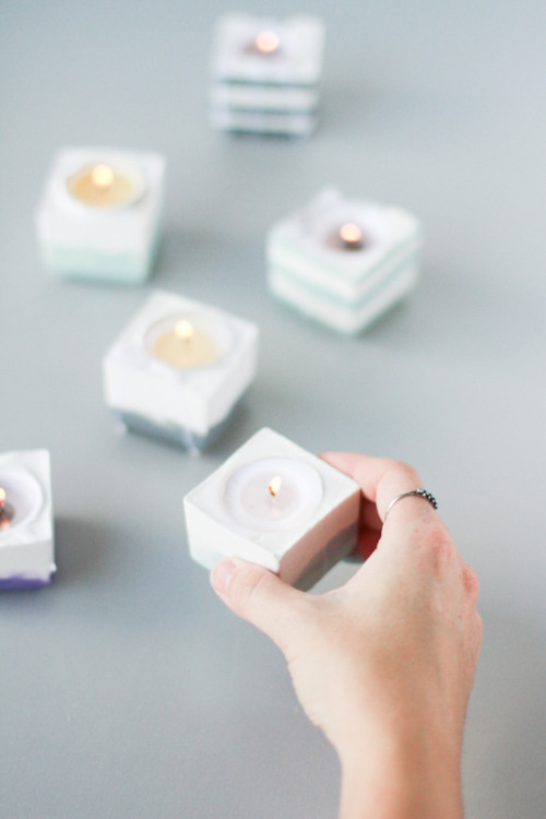 DIY modern candle votives via Papernstitch