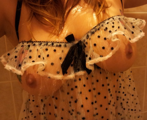naughtynicegirl69:  I love Wet Wednesdays…it is equivalent to running out in the rain for the heck of it…lol…I need a water proof camera so the next time it rains I can run out clothed and strip naked taking pictures…lol…;0