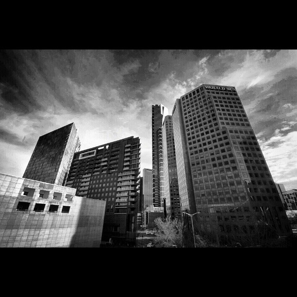 Melburn. #cityscape #Melbourne #snapseed #monochromephotography #blackandwhitephotography  (at Narre Warren South)