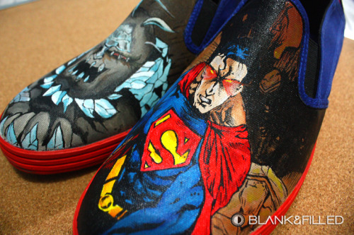 Doomsday hand painted sneaker design