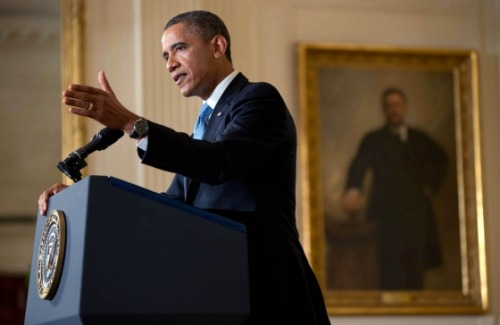 "barackobama:  ""Republicans in Congress have two choices here: They can act responsibly, and pay America's bills; or they can act irresponsibly, and put America through another economic crisis. But they will not collect a ransom in exchange for not crashing the American economy. The financial well-being of the American people is not leverage to be used. The full faith and credit of the United States of America is not a bargaining chip."" —President Obama in the final news conference of his first term yesterday"
