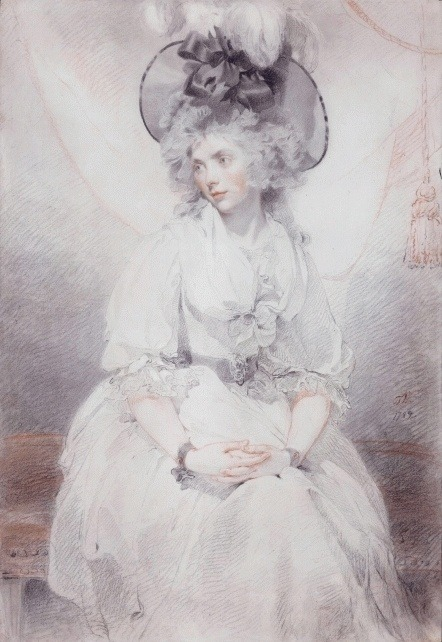 1789. Portrait of Mrs James Denham by Sir Thomas Lawrence.