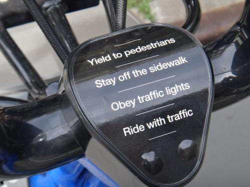 CitiBikes come with instructions between the handlebars. Brilliant.