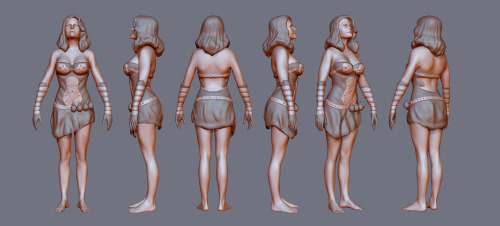 More Zbrush Practice. The female base mesh is re mesh modeling of the JULIE preset that comes with Zbrush 4R4 and is done in 3DS Max.