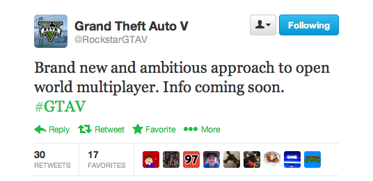 GTA V Mulitplayer info coming soon!