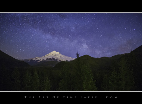 Here's a screen shot from my time-lapse by Mt Hood.  Does anyone see the shooting star?