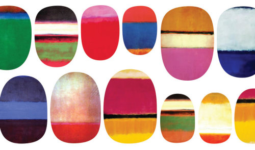 tydepool:  Rothko Nails - $6  Best etsy shop ever!