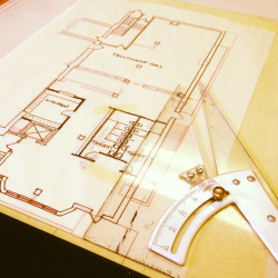 josethompson:  Drafting some floor plan layout options. By hand. So old-school. I love it.