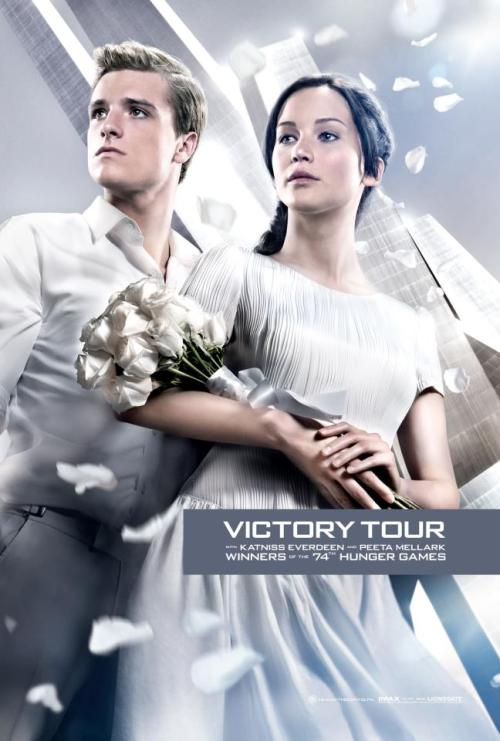 New Catching Fire picture of Peeta & Katniss!