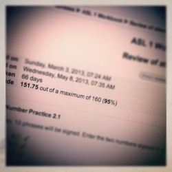 95% at ASL test! #nailedit #yayme