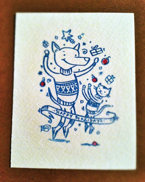 designersof dances with:  Our handmade holiday card for 2012. Follow me!