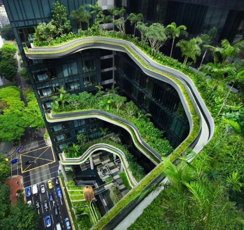 homedesigning:  Parkroyal Singapore Architecture