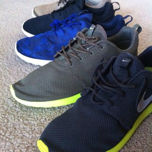 Roshe Runs. Too many? #nike #rosherun #roshe #sneakers