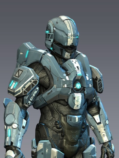 Halo 4 GUNGNIR Low Poly by RoyalFlush555