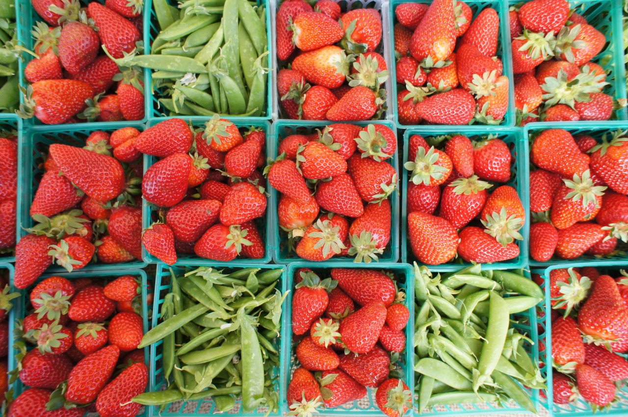 lovagemetender:  Can't wait for spring.  Strawberries and sugar snaps.  Santa Monica Market.