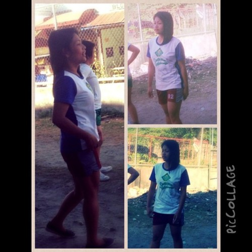 Ang lungkot ko naman maglaro. Hahaha 😁 #piccollage #stolen #all_shots #sport #sporty #active #fit #TagsForLikes #volleyball #playing #player #field (at Cavite State University Imus Campus)