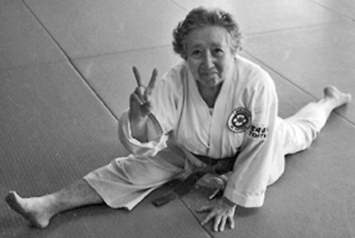 Elizabeth Mazarake obtained a black belt in karate in her late 80's. She passed away on September 12, 2012 at the age of 100.