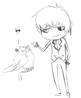 Ciel Messing with Sebastian… -shrugs- I drew a thing.